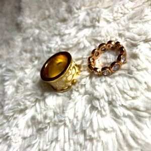 Authentic coach and Swarovski rings!!